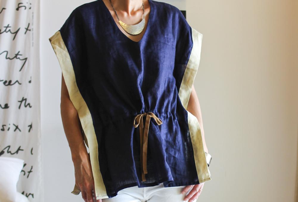 maomao yumi top navy shirt-3