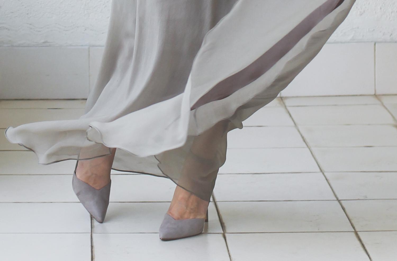 Micky Tan Grey Sequin Chiffon Dress-14