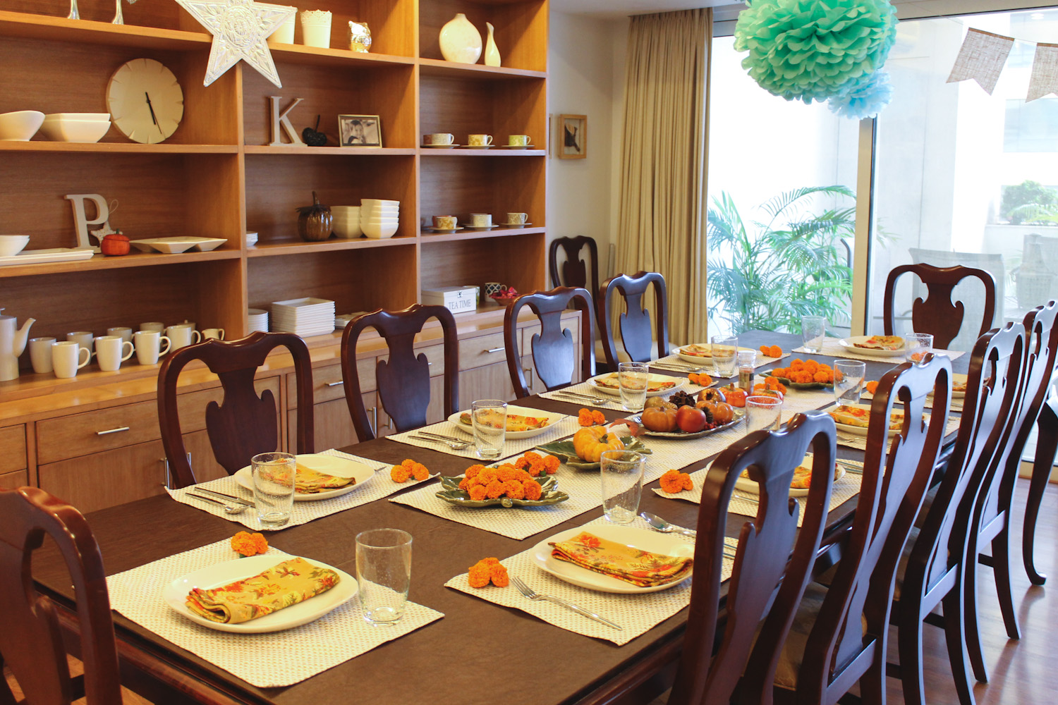 Decorating for Thanksgiving in India 2015