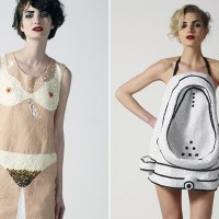 Lady Gaga's Next Fashion Statement - Urinal and Pubic Hair and Nipple Dresses