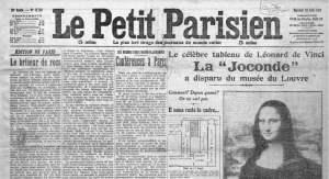 Le Parisien, La Gioconda robada