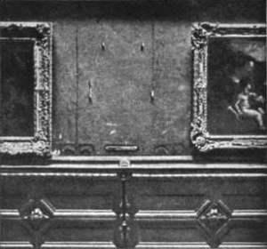 Mona Lisa desaparecida, Sala Carre, Museo del Louvre