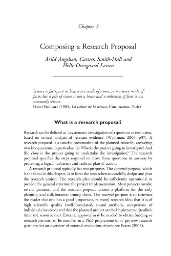 Composing a research proposal Center for International Forestry - what is the research proposal