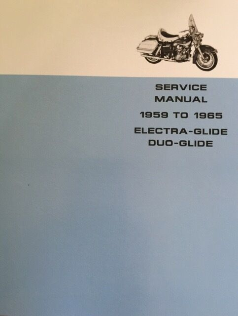 Harley FL FLH Service Manual 58 to 65 Panhead Electra Duo-Glide