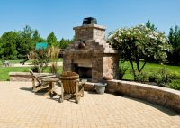RETAINING WALLS PAVER PATIO CHIMNEY AND FIREPLACE ...