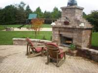 outdoor patio stone walls Gallery