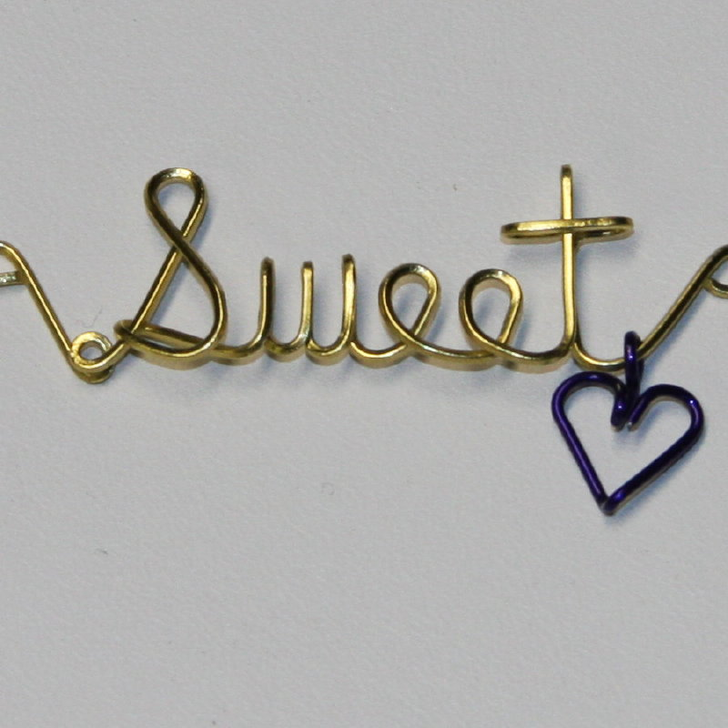 Sweetheart Wired Word Necklace Cindi Rae - Artiste