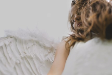 family photography sydney - girl with angel wings