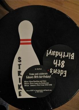 bowling invitation ~ open