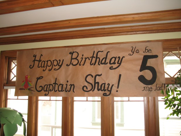 pirate theme party banner