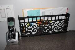 cast iron grate mail holder