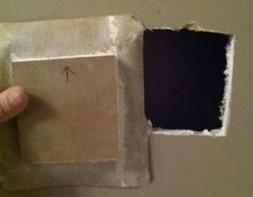 door knob hole repair