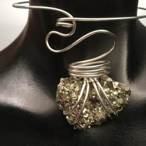 sterling choker wave pyrite
