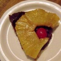 Chocolate Pineapple Upside-down Cake