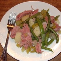 Ham and String Beans Slow-Cooker Style