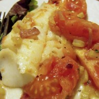Cod with Stewed Tomatoes for #MothersDay #SundaySupper