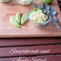 Sauerkraut and Apple Salad #SundaySupper