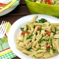 Lemon Chicken Penne Salad #SundaySupper