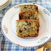 Chocolate Chip Banana Cake #SundaySupper