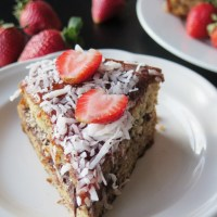 Strawberry Chocolate Banana Cake #FoodBloggerLove Reveal and Giveaway