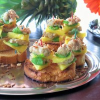 Chicken Meatball and Pineapple Stacker Bites #TheRecipeReDux