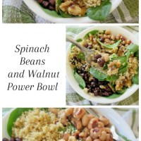 Spinach Beans and Walnuts Power Bowl #TheRecipeReDux