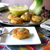Mini Salmon Cakes with Anise Aioli #SundaySupper