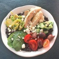 Mediterranean Chicken Black Rice Bowl #SundaySupper