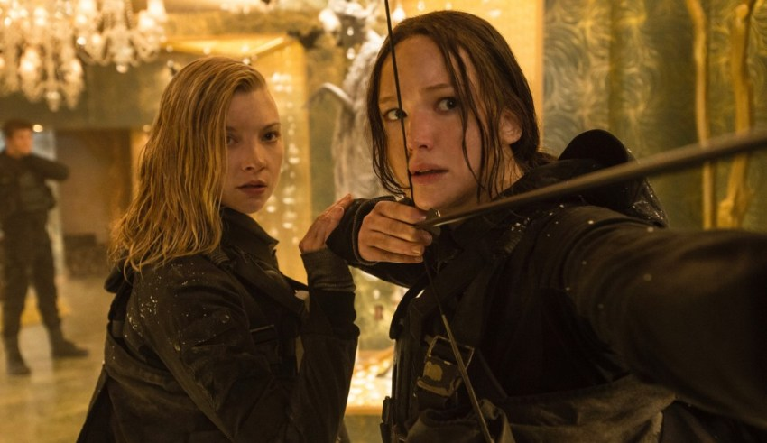Natalie Dormer and Jennifer Lawrence star in Lionsgate's THE HUNGER GAMES: MOCKINGJAY - PART 2