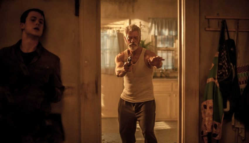 Dylan Minnette and Stephen Lang star in Screen Gems' DONT BREATHE