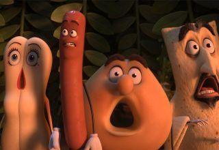 (L-r) Kristen Wiig, Seth Rogan and Ed Norton in Columbia Pictures' SAUSAGE PARTY