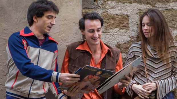 tommaso, marcello e alice, i protagonisti del film L'Universale