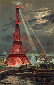 Torre Eiffel durante l'Esposizione Universale  del 1889, disegno di Georges Garen