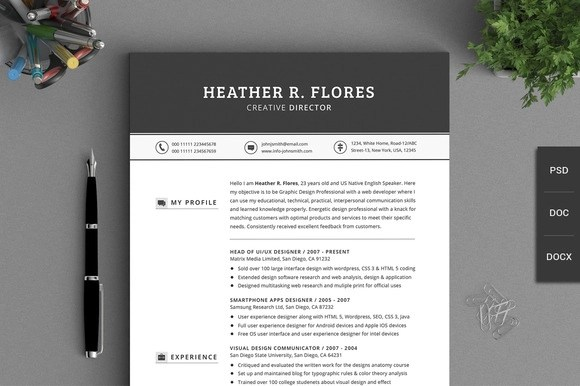 10 great minimal design CV templates - CIPHR