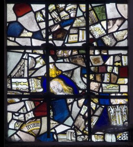 winchester cathedral close up, stained glass