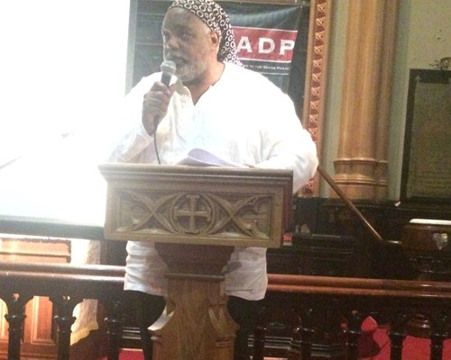Harold Wilson speaking and offering testimony on his experience in prison and exoneration. Speaking at Executing Grace book release.