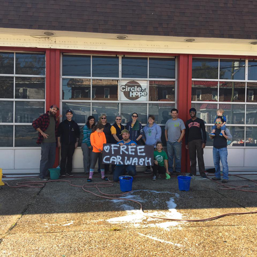 Circle of Hope in South Jersey does a car wash and delivers compassion.