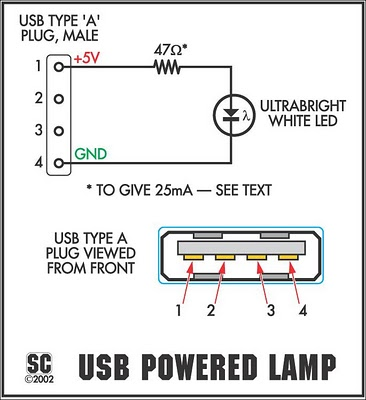 For Micro Usb Wire Color Diagram How To Build The Itsy Bitsy Usb Lamp Circuit Diagram