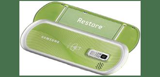 Samsung Restore, il cellulare con il dna green