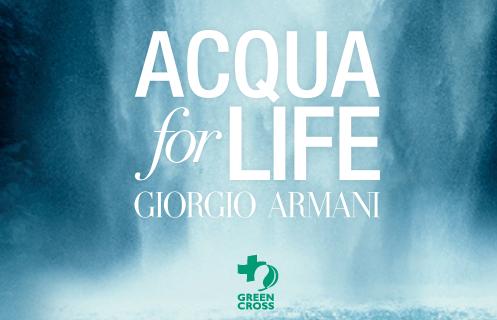 Acqua for Life, lo spirito green di Armani