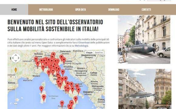 Online il sito sulla Mobilità Sostenibile in Italia
