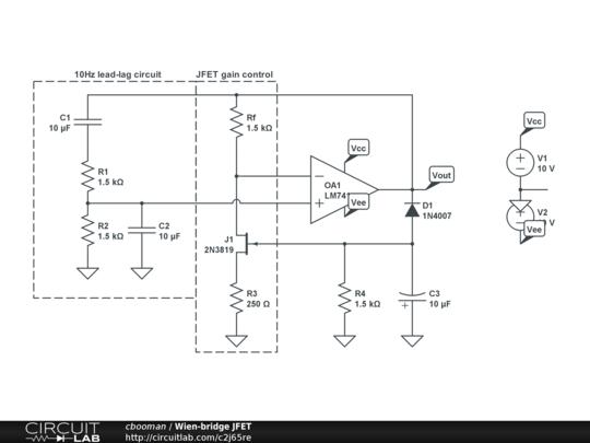 my jfet quartz oscillator public circuit online circuit simulator