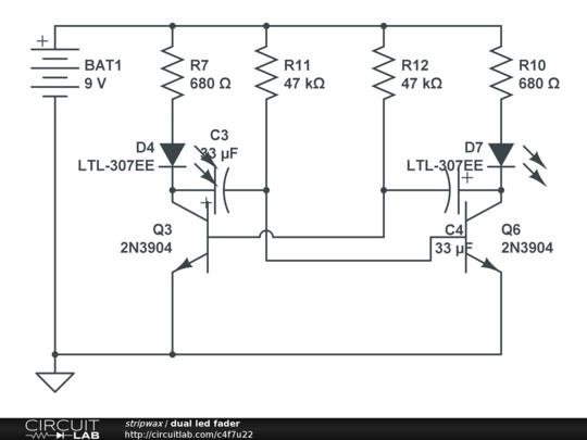 circuitlab led pulsing tardis
