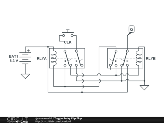toggle switch with relay circuit schematic diagram