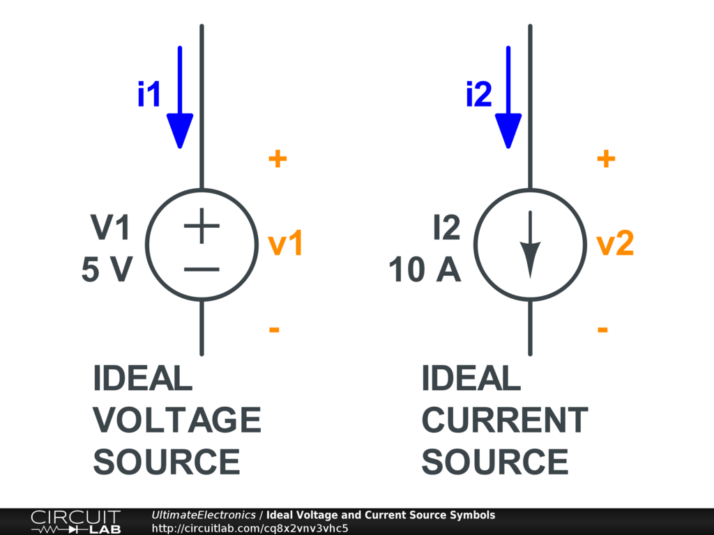 open circuit for open circuit voltage