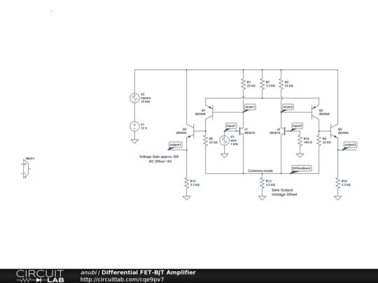 circuitlab bjt audio amplifier