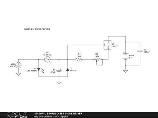 circuitlab simple laser diode driver