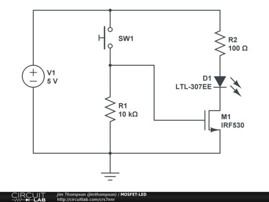 circuitlab public circuits tagged mosfet