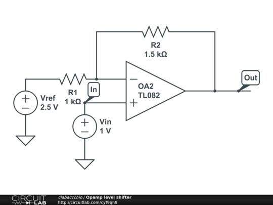 circuitlab opamp level shifter