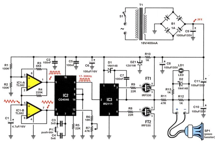rat repeller circuit
